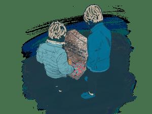 Savn og sorg. Etterlatte. Sosial nettverksstøtte. Klinikk for krisepsykologi. Psykologsenter Bergen. Psykologfellesskap. Kriseberedskap, krisehåndtering, kriseledelse, krise, traumeterapi, traumebehandling, traumer, kurs, veiledning, undervisning, beredskap, beredskapsavtale bedrift, debriefing, kollegastøtteordning, sakkyndig arbeid, spesialisterklæring, individualterapi, gruppeterapi, parterapi, komplisert sorg, sorgterapi. Etterlatte, død, dødsfall, sosial nettverksstøtte. Sorgprosess. Takle sorg. Sorgsenter. Sorgreaksjoner. Bearbeide sorg. Illustrasjon.