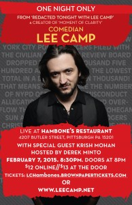 Lee Camp at Hambone's in Pittsburgh