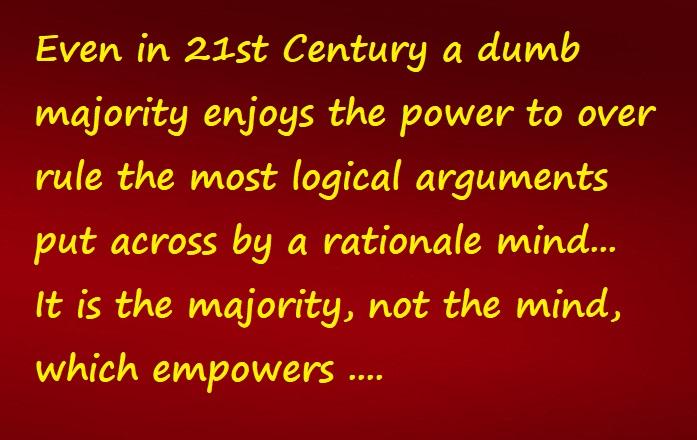 dumb majority