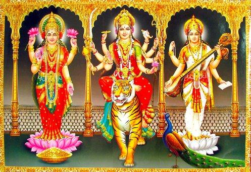 Tridevilakshmi-sarasvati-durga