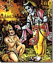Ram blessing Hanuman