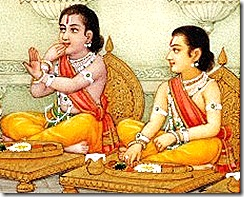 Lakshmana and Rama eating