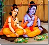 Rama and Lakshmana eating