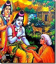 Rama and Lakshmana with Shavari