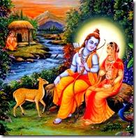 Sita, Rama, and the deer