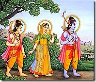 Rama, Sita, and Lakshmana