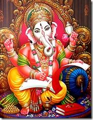 Lord Ganesha writing scripture