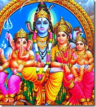 Shiva Parvati and family