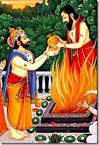 Dashratha's sacrifice which brought him four sons