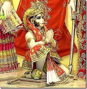 Hanuman offering his obeissances