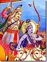 Krishn and Arjuna