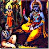 Lord Krishna speaking to Uddhava