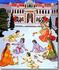 Dasharatha's wives with children