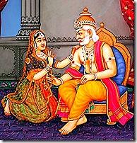 Dasharatha with Kaikeyi