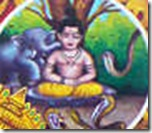 Prahlada being attacked