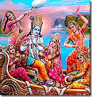 Radha, Krishna, and friends
