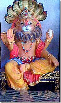 Krishna's half-man/half-lion avatara