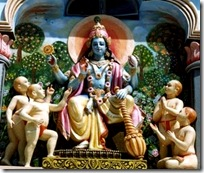 Four Kumaras with Lord Vishnu