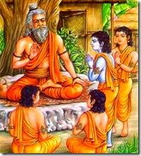 Lord Rama and brothers in Gurukula