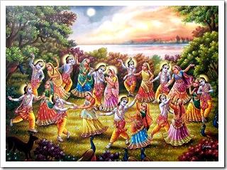 Gopis dancing with Krishna