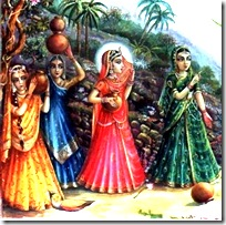 Gopis speaking to Krishna