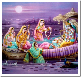Radha and Krishna with the goopis