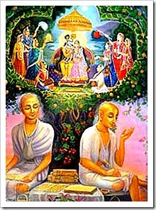 Rupa and Sanatana Gosvami writing books