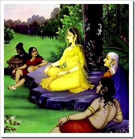 Sita meditating on Rama