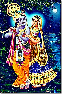 Radha and Krishna enjoying