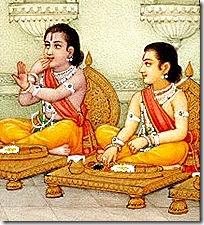 brotherly love - Rama and Lakshmana