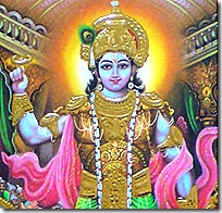 Krishna holding sudarshana chakra