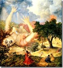 Krishna killing Putana