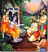 Rama and Lakshmana with the Vanaras
