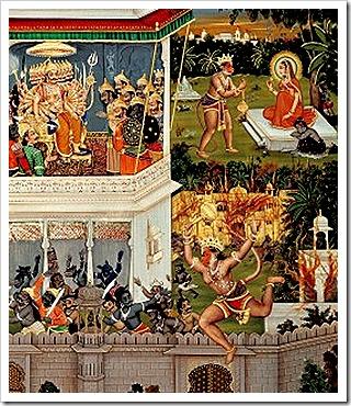 Hanuman in Lanka