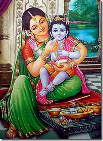 Lord Krishna with Mother Yashoda