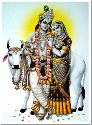 Radha-Krishna with cow