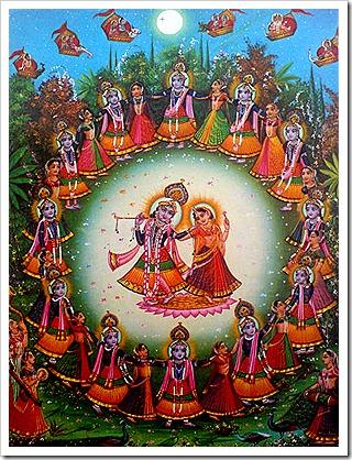 Krishna with the gopis