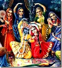 gopis with Krishna