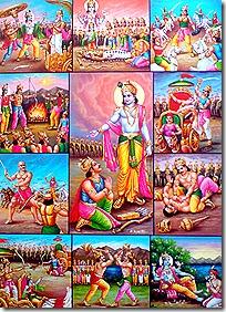 scenes from the Mahabharata