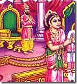 King Janaka watching daughter Sita