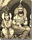 King Dasharatha with son Rama