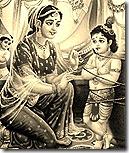 Krishna with Yashoda