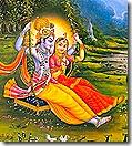 Radha and Krishna on a swing