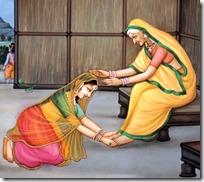 Sita meeting Anasuya