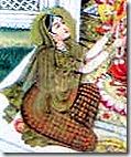Sita worshiping Goddess Durga