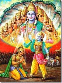Krishna showing universal form