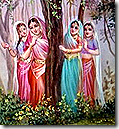 Gopis watching Krishna