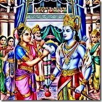 Sita and Rama's marriage