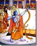 Rama lifting the bow
