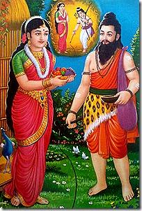 Sita approached by Ravana